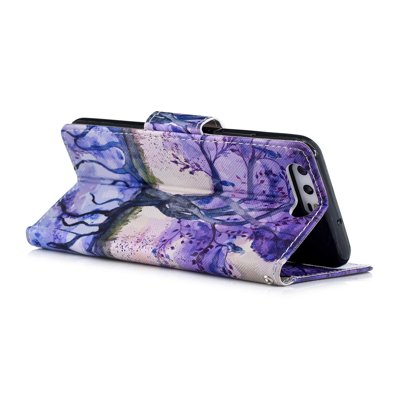 Felfy Kompatibel mit Huawei P10 Handyh/ülle H/ülle Tasche Flip Cover Magnetschnalle Bunt Flamingo Muster PU Leder et Weich Silikon Tasche Back Case Schutzh/ülle Kunstleder H/üllen mit Standfunktion