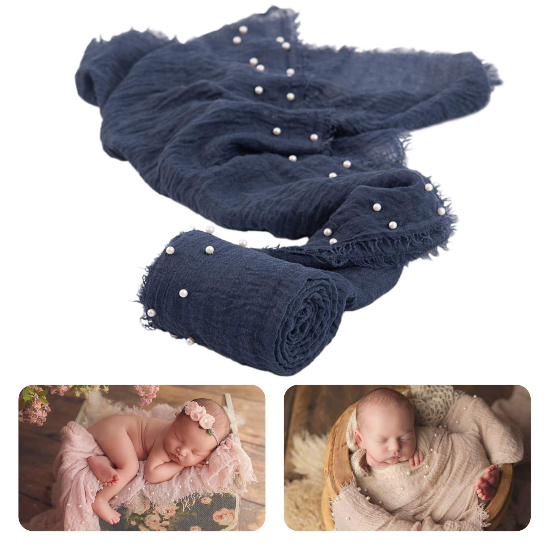 Milestone Photography Newborn Baby Wrap Ruffle Stretch Blanket Photo Prop
