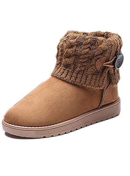 Lalang Femme Bottes de Neige Hiver Chaudes Bottes Boots Fourrées Cheville Chaussures
