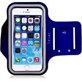 Tribe AB66 Water Resistant Sports Armband with Key Holder for iPhone 7 Plus, 6 Plus, 6S Plus (5.5-Inch), Galaxy S6/S5, Note 4 Bundle with Screen Protector