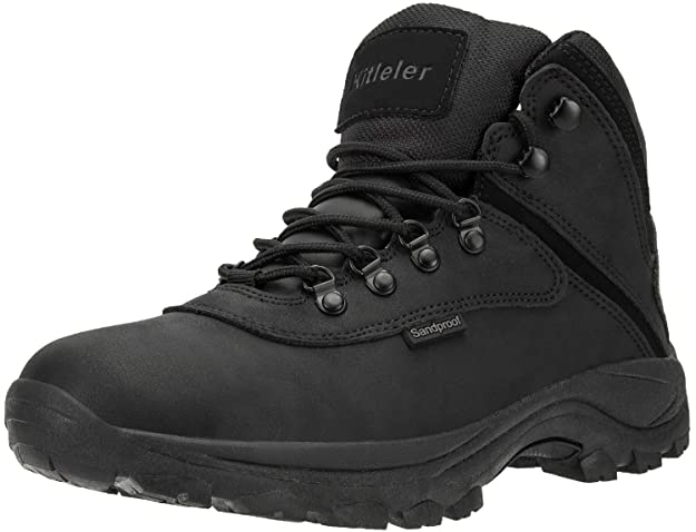 Kitleler Men's Waterproof Hiking Boots Outdoor Work Boots Backpacking Trekking Trails (8808-Black-10 M us) best men's hiking shoes