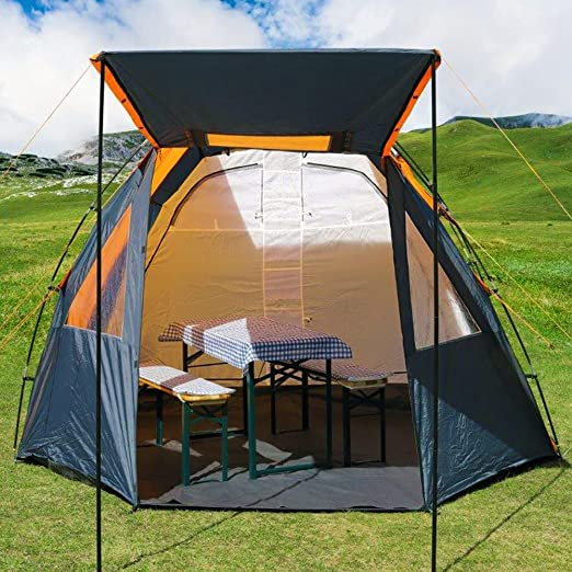 Deuba Zelt Familienzelt Campingzelt 500x300x195cm für 4