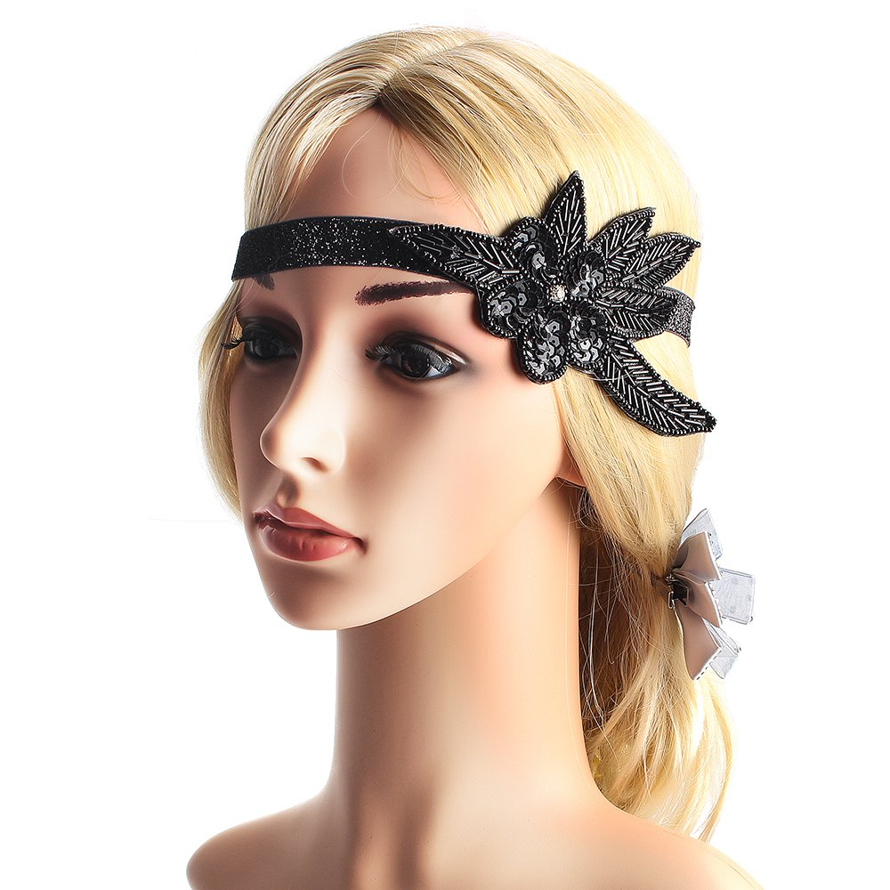 Zigarettenspitze Great Gatsby Zubeh/ör f/ür Frauen Handschuhe Beelittle 1922er Jahre Zubeh/ör Set Flapper Stirnband Halskette