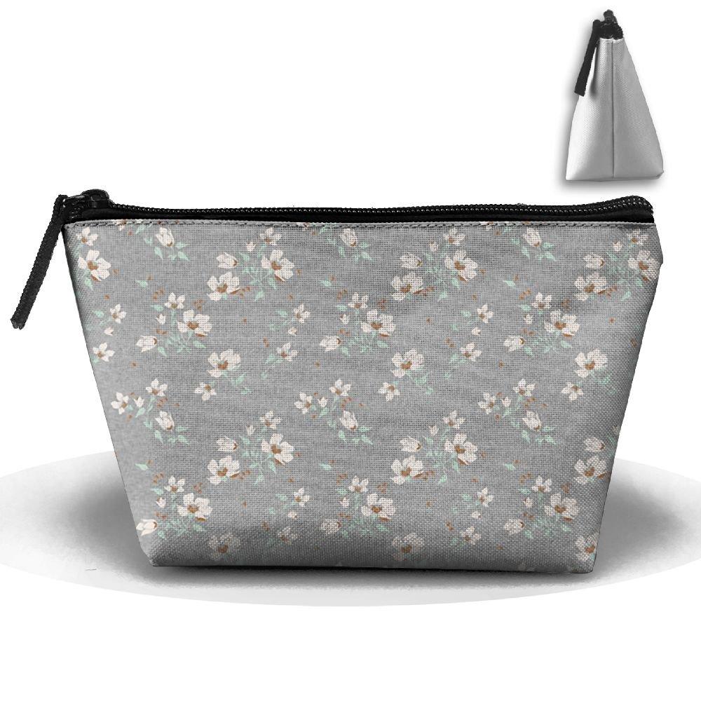 5630742764d0 ZGWS Mint Floral Linen Toiletry Bag/Makeup Organizer/Cosmetic Bag ...