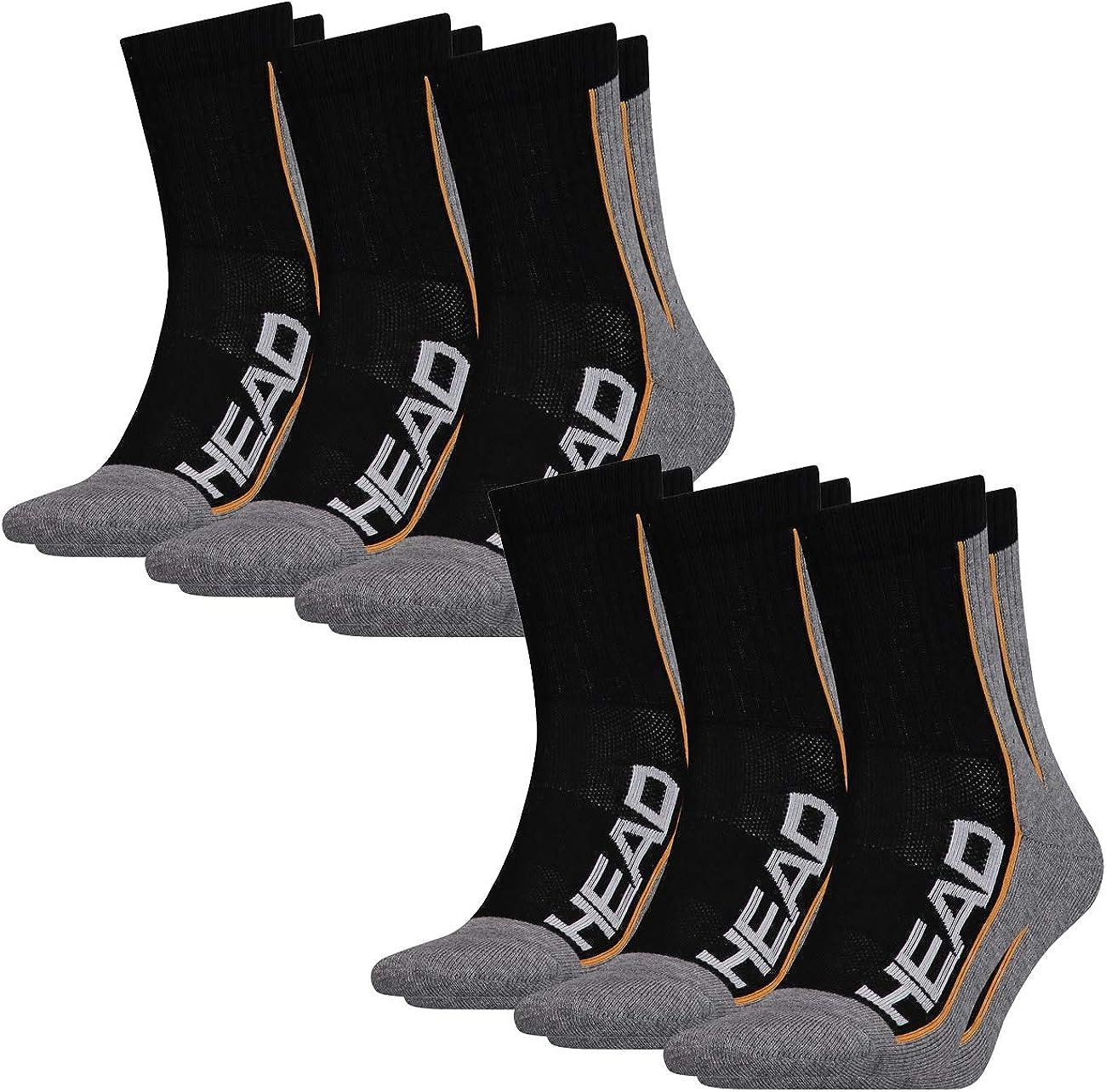 Head Lot de 6 paires de chaussettes unisexe Performance.