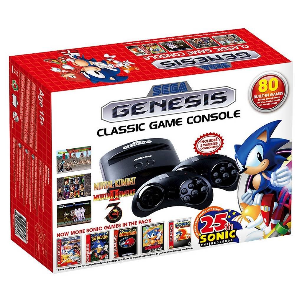 Sega genesis classic atgames console 80 built in video - Sega genesis classic console with 80 built in games ...