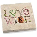 Epic Products Wine Letters Dinner Napkins (20 Pack), Multicolor