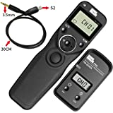 Pixel TW-283/S2 LCD Wireless Shutter Release Timer Remote Control For Sony Micro single Digital Camera A7 A7 II A7R A7R II HX300