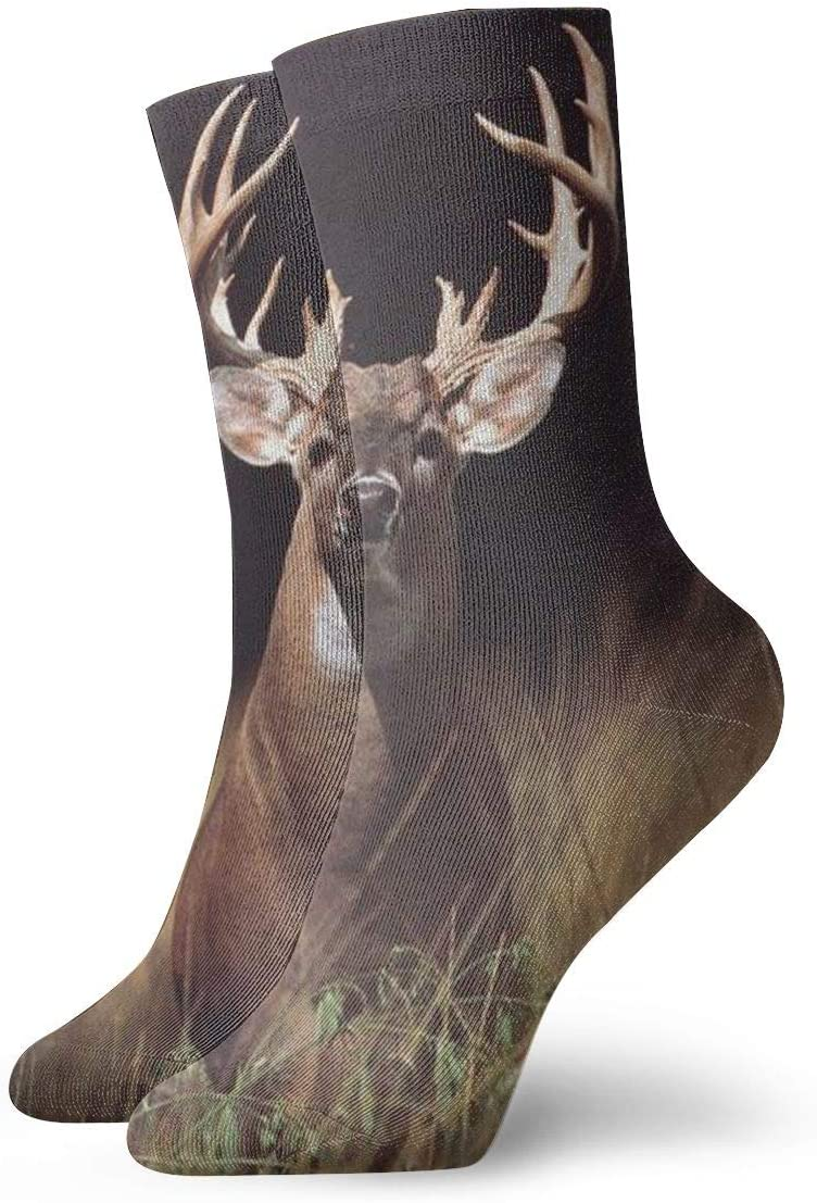 Jokerbilibili Trophy Buck Deer with Big Rack Unisex Print Athletic Quarter//Ankle Running Hiking Socks-Weekend Lounge Short Crew Socks