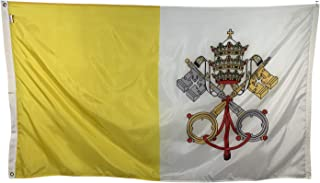 product image for 5x8' Vatican City Papal Flag - All Weather Nylon & Reinforced Stitching - Proudly Made in The USA