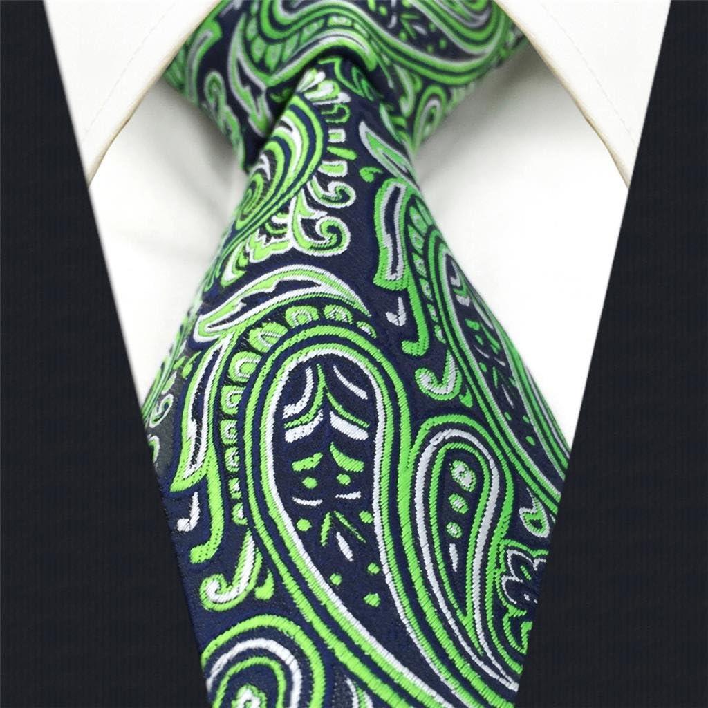 Shlax&Wing Nuevo Hombre Traje De Negocios Seda Corbatas Para Verde ...