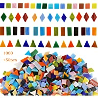 Lanyani 800 Pieces Mosaic Tiles Stained Glass - Assorted Colors for Art Craft and Home Decorations - 500g/1.1lb Mix…