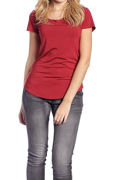 Abbino 4082 Camisa Básica para Mujer 9 Colores - Transición Primavera Verano Promoción Femenino Casual Tendencia