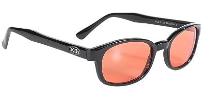 6eeed23c7 Pacific Coast Sunglasses 2128 Black Frame/Orange Lens One Size Biker  Sunglasses