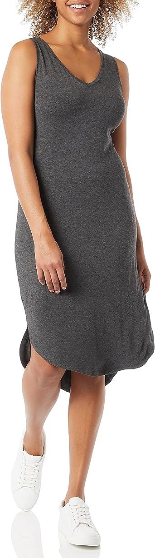Amazon Brand - Daily Ritual Women's Jersey Sleeveless V-Neck Midi Dress
