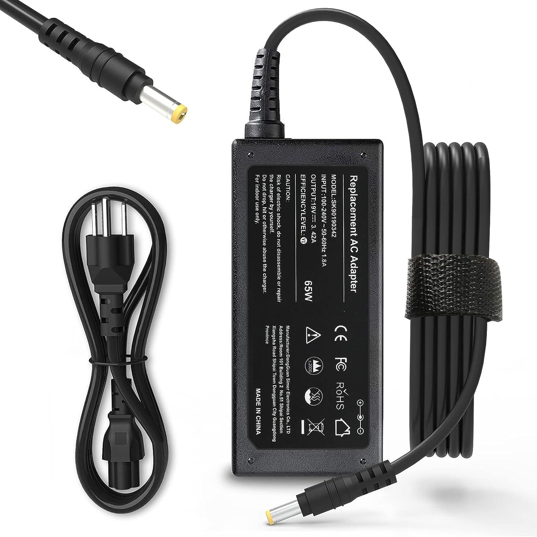 65W Laptop Charger for Acer Aspire E15 ES1 E1 E5; E1-571 E5-575G E1-510P E1-521 E3-111 E5-511P E5-521 E5-522 E5-551 E5-571 E5-573G ES1-111M ES1-411 ES1-511 ES1-521 ES1-531 E1-572 AC Adapter power cord