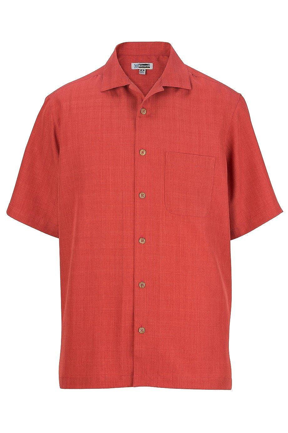 Edwards Garment Restaurants Perfect Pocket Camp Shirts/_SOFT RED/_XXS