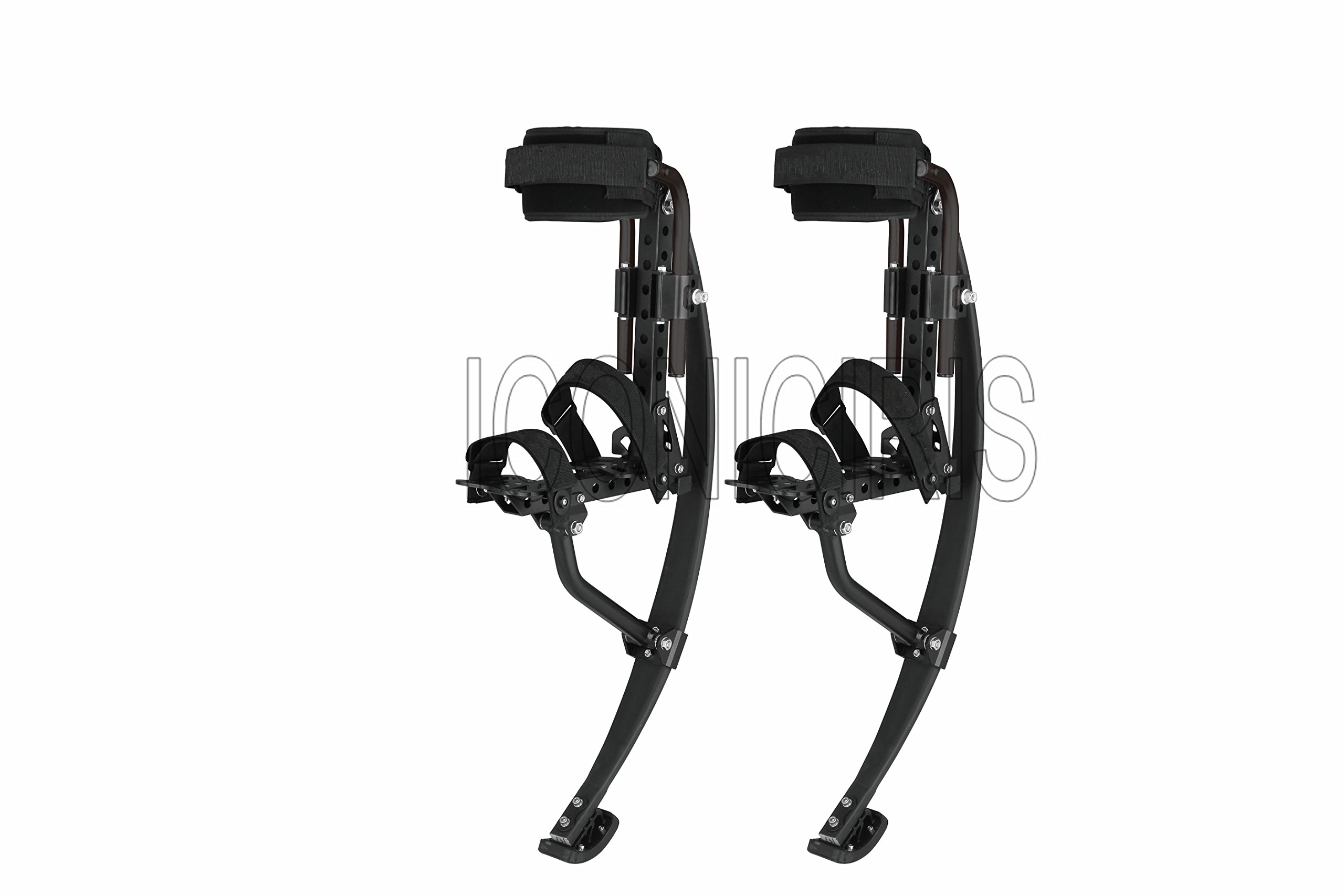 Skyrunner 2018 NEW MODEL Jumping Stilts POGO STILTS Kangaroo Shoes Bouncing Spring stilts Men Women Fitness Exercise Black (Load Weight:110-120KG/243-265LBS) by Skyrunner