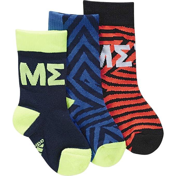 adidas Messi Kids Sock Calcetines, Unisex niños, Maruni/Azul ...