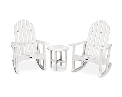 Peachy Trex Outdoor Furniture Cape Cod Adirondack Seating Set Classic White Pdpeps Interior Chair Design Pdpepsorg