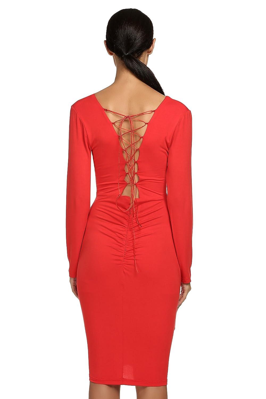 3d8533445d Etuoji Womens Hollowed Back Strappy Sleeveless Midi Dress at Amazon Women s  Clothing store