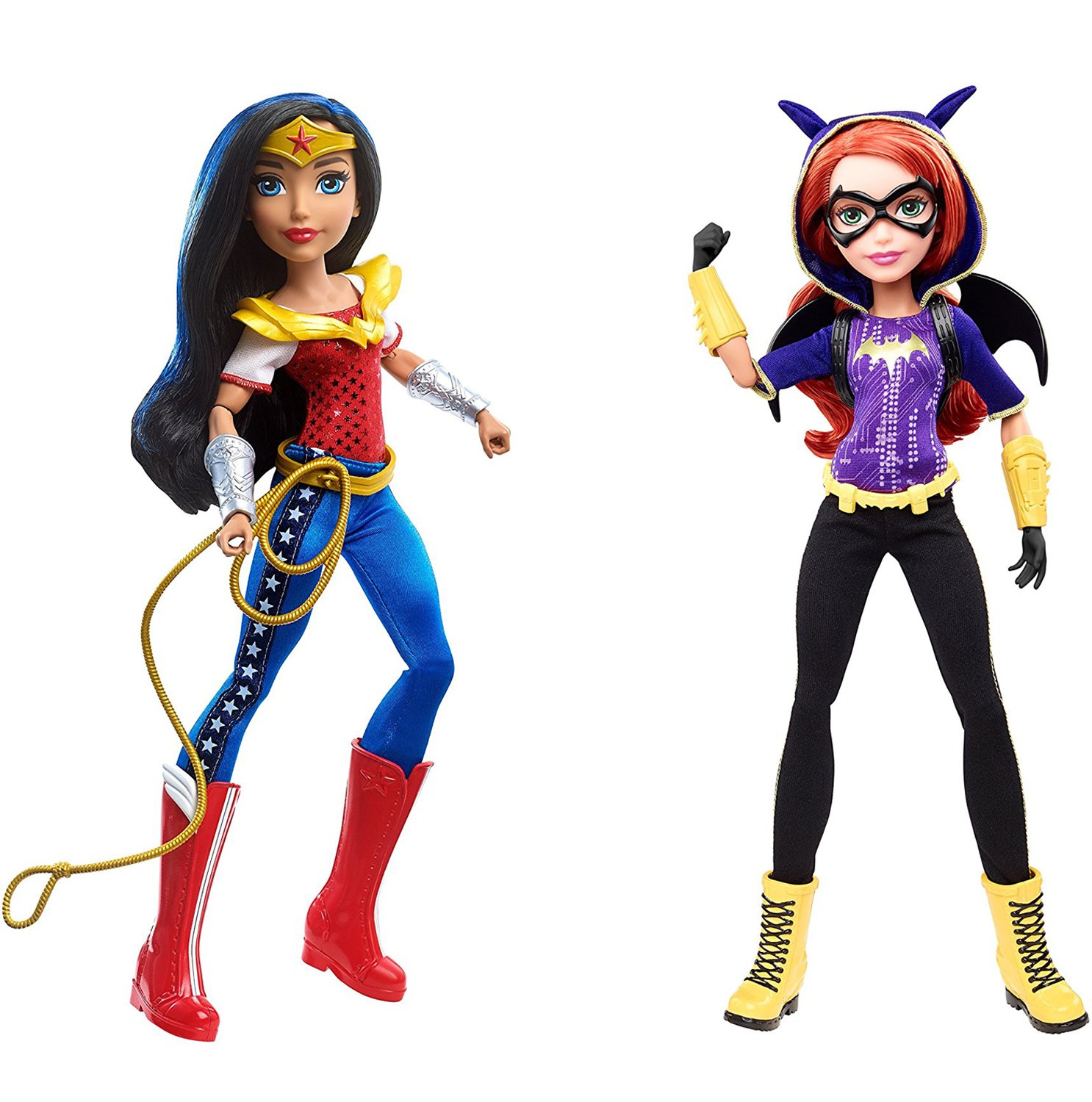 Bundle of 2 Mattel DC Super Hero Girls Wonder Woman /& Batgirl 12 Action Dolls