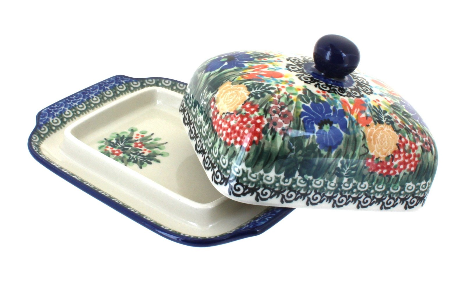 Polish Pottery Summer Blooms Butter Dish by Ceramika Artystyczna (Image #2)