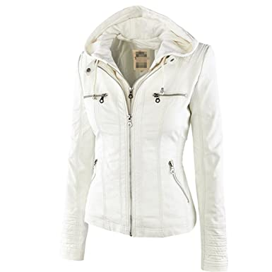 Amazon com: YouzhiWan007 New Winter Faux Leather Jacket