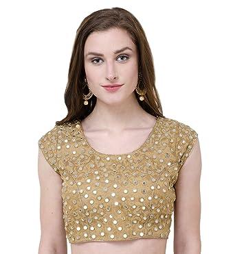 aa4c96f0804f8f Naira Couture Women's Silk Saree Blouse (Golden_36): Amazon.in ...