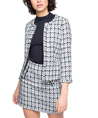ESPRIT Collection Tweed, Chaqueta de Traje para Mujer, Azul ...