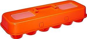 Bakelicious 73906 Cupcake Plastic Carton 12 Cupcakes Orange