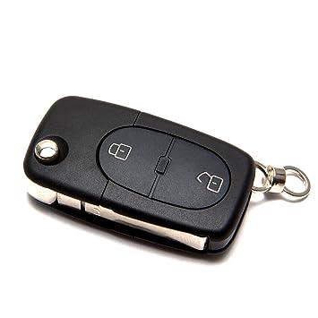 Audi Llave Carcasa plegables llaves Radio mando a distancia ...