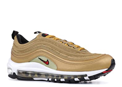 Nike Women's Wmns Air Max 97 OG QS, METALLIC GOLD/VARSITY RED 38.5 ...