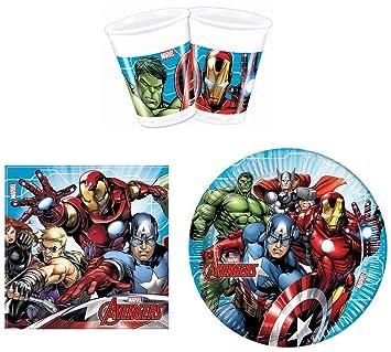 Proco Marvel Avengers - Juego de Platos y servilletas