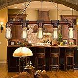 Lixada Rétro Lampe Vintage suspension industrielle Lampe (sans ampoule ) Eclairage de Chambre Salon Salle
