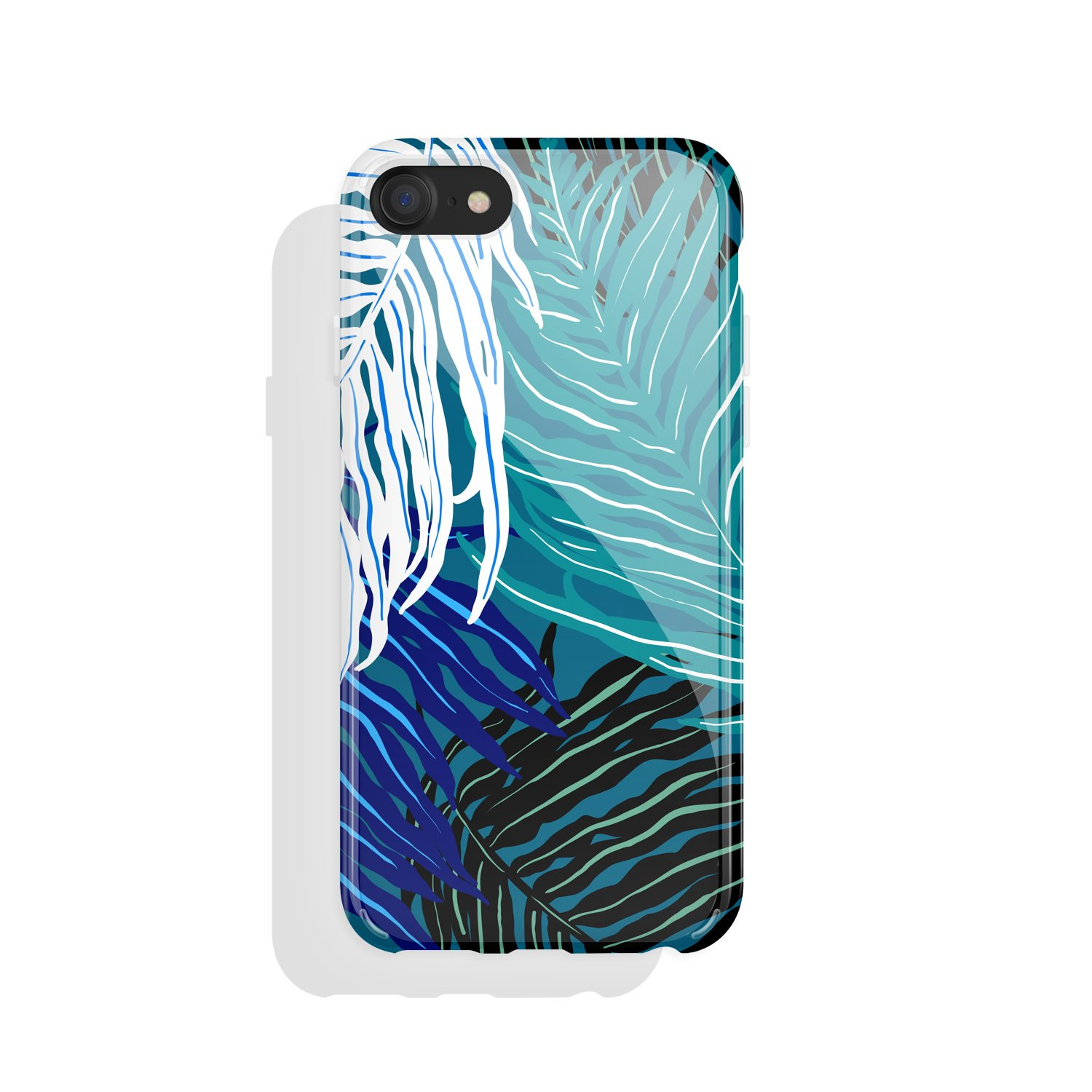 iPhone 8 & iPhone 7 Case Tropical Leaf, Akna Charming Series High Impact Silicon Cover with HD Graphics for iPhone 8 & iPhone 7 (101284-U.S)