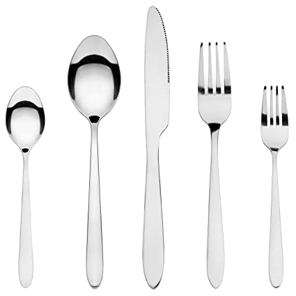 Silverware Set HardyBlue Inexpensive Stainless Steel Flatware Service for 4 20 Pieces Total  sc 1 st  Amazon.com & Amazon.com | Silverware Set HardyBlue Inexpensive Stainless Steel ...
