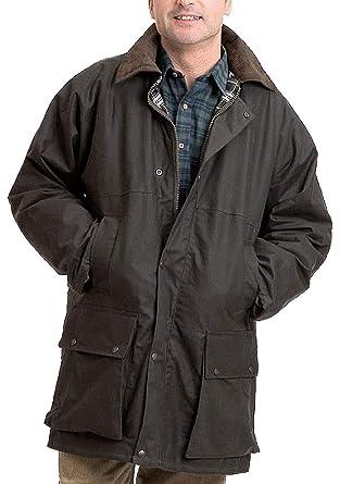 Real Life Fashion Ltd Mens Padded Wax Corduroy Collar Jacket Boys
