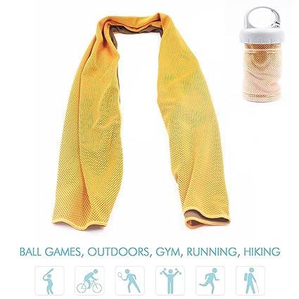 NHsunray Toalla de Enfriamiento Instantáneo Microfibra Deportes Secado Rápido Malla Transpirable para la prevención de la