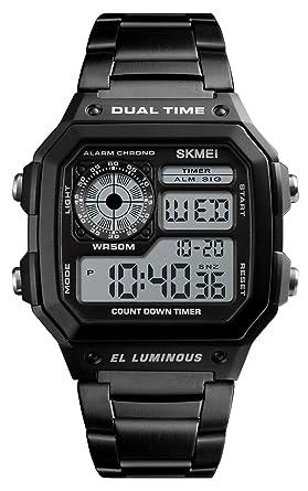 441ccf2008 腕時計 ブランド メンズ ファションデザイン デジタル表示 ストップウォッチ 夜光ライト アラーム時報 スポーツ カジュアル メタル