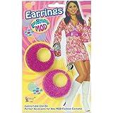 Adult 1960s & 1970s Fancy Dress Party Carnival Accessory Ladies Mod Ear Rings UK
