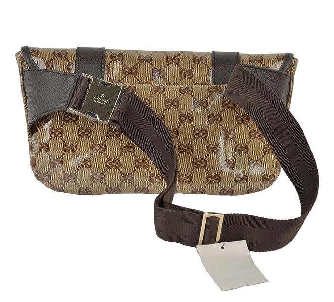 a3566fe7836b03 Gucci Waist Belt Bag 374617 Signature Crystal GG Guccissima Logo Fanny  Pack: Amazon.co.uk: Clothing