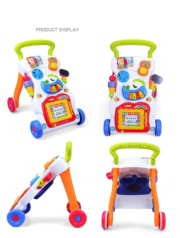 ss Andador de bebé Multifuncional para Aprender música Velocidad ...