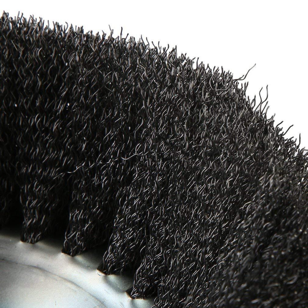Weed Cutting Weed Trimmer Brosse de Roue en Acier /à sertir Rond avec Fil dacier serti /à sertir Argent 25.4x200mm