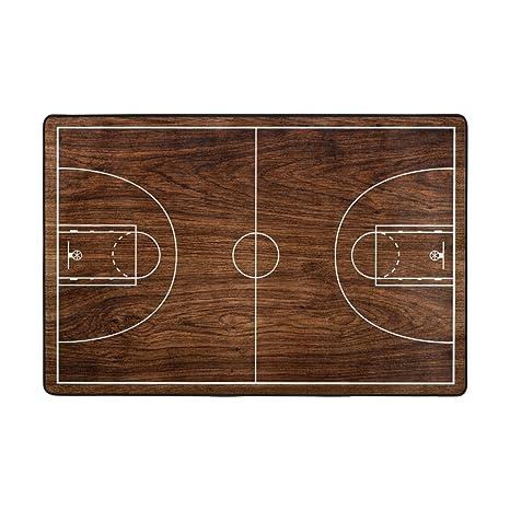 Amazon.com: My Daily cancha de baloncesto área alfombra 3