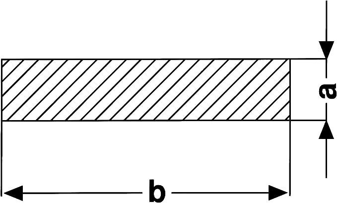 Flachstahl Stahl Flachmaterial L/änge 1000mm 35x5