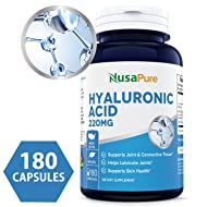 Best Hyaluronic Acid 200mg 180caps (Non-GMO & Gluten Free) - Support Healthy