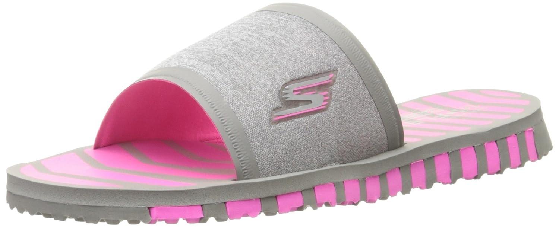 Skechers Performance Women's Go Flex Rely Flip Flop B013KXOENM 11 B(M) US|Gray/Hot Pink
