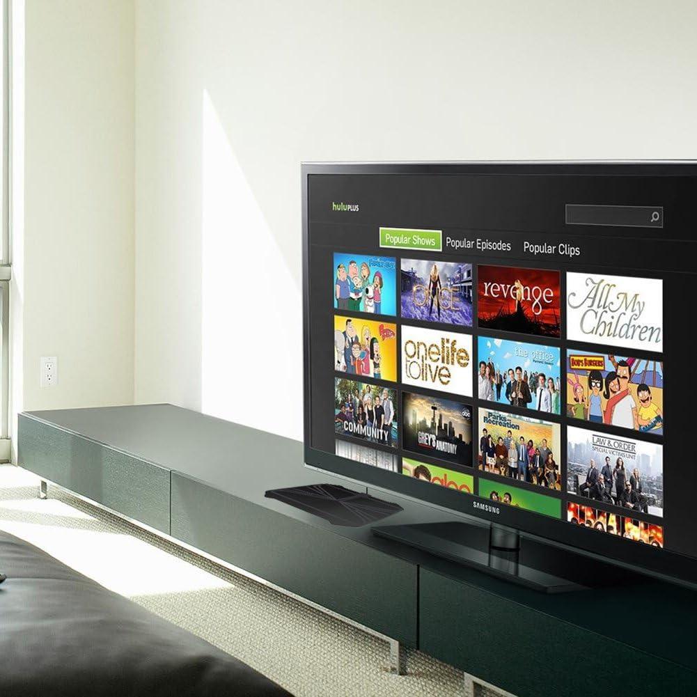 Antena de TV digital HD amplificada, rango de 60 a 70 millas de alta definición, antena de televisión digital ultrafina para interior: Amazon.es: Electrónica