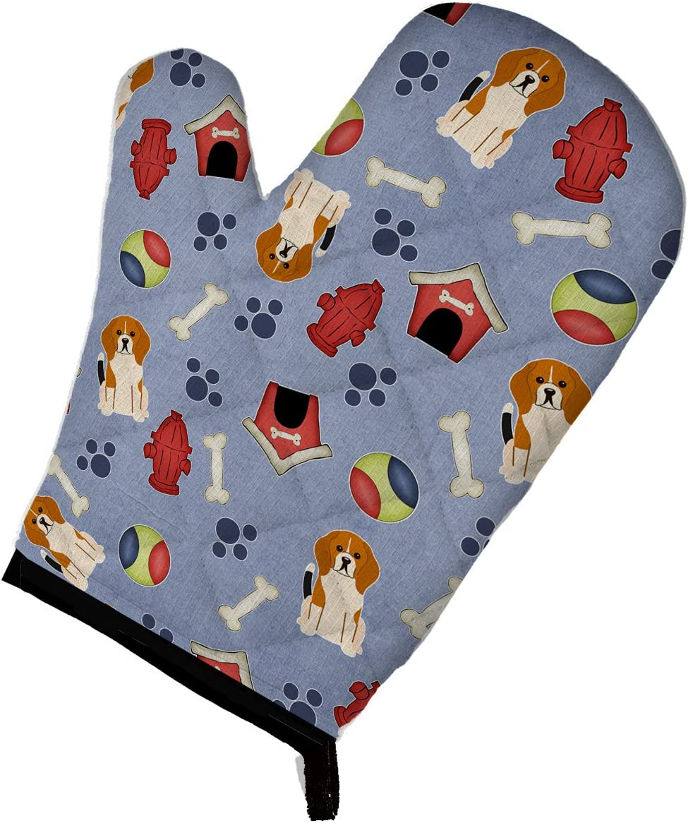 Caroline's Treasures BB2653OVMT Dog House Collection Beagle Tricolor Oven Mitt, Large, multicolor